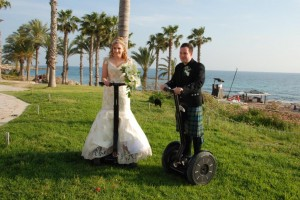 trysegway wedding paphos  Cyprus